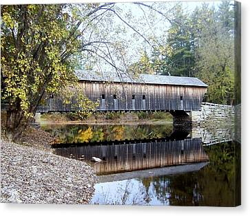 Hemlock Covered Bridge Canvas Print by Catherine Gagne