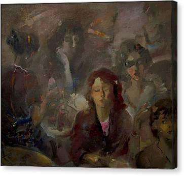 Hen Party Canvas Print by Danail Tsonev