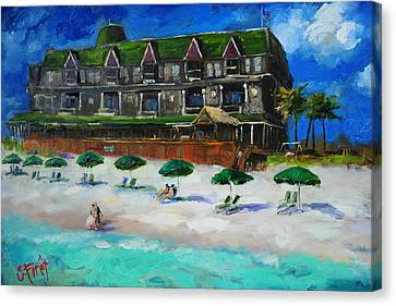 Henderson Inn Destin Florida Canvas Print by Carole Foret