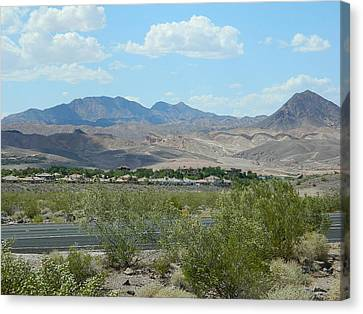 Canvas Print featuring the photograph Henderson Nevada Desert by Emmy Marie Vickers