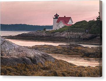 Hendricks Head Light At Sunset Canvas Print by At Lands End Photography