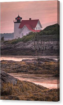 Hendricks Head Light At Sunset - Portrait Canvas Print by At Lands End Photography