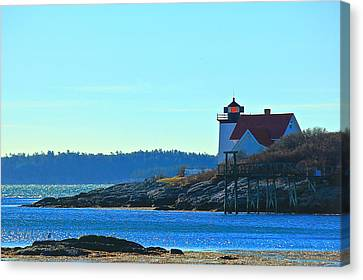 Canvas Print featuring the photograph Hendricks Head Lighthouse 2 by Amazing Jules