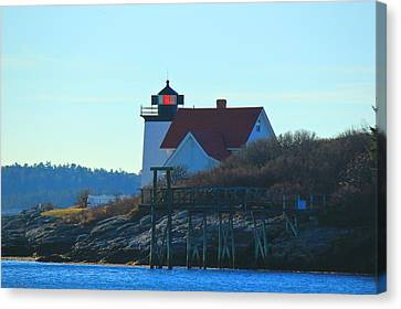 Canvas Print featuring the photograph Hendricks Head Lighthouse by Amazing Jules
