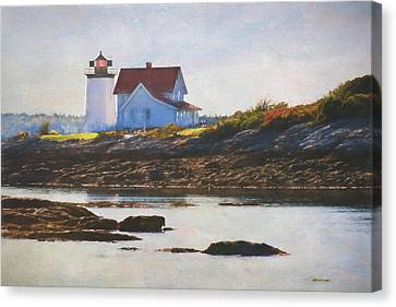 Hendricks Head Lighthouse - Maine Canvas Print by Jean-Pierre Ducondi