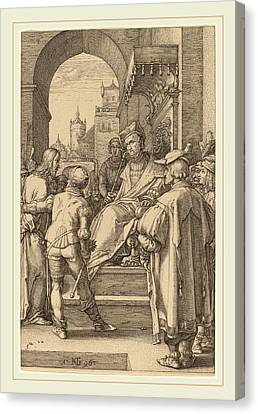 Hendrik Goltzius Dutch, 1558-1617, Christ Before Pilate Canvas Print