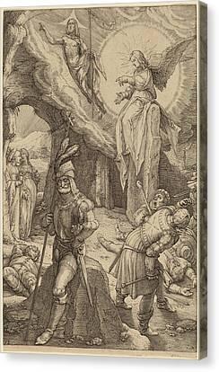 Hendrik Goltzius Dutch, 1558 - 1617, The Resurrection Canvas Print