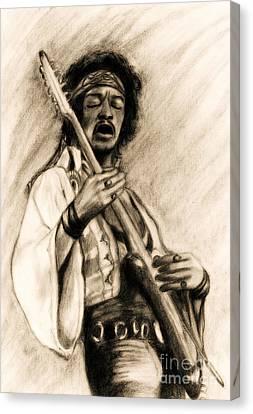 Roz Barron Abellera Canvas Print - Hendrix-antique Tint Version by Roz Abellera Art