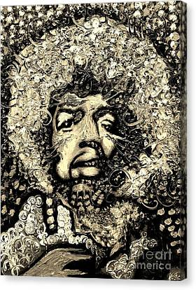 Jimi Hendrix Canvas Print by Michael Kulick
