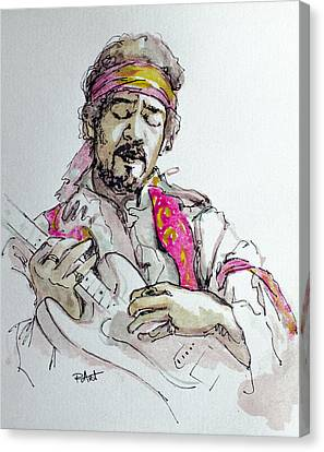 Canvas Print featuring the painting Hendrix by Laur Iduc