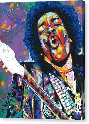 Hendrix Canvas Print by Maria Arango