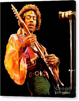 The Kiss Canvas Print - Hendrix by Paul Tagliamonte