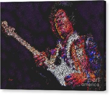 Jimmy Hendrix Canvas Print - Hendrix by Sergio B