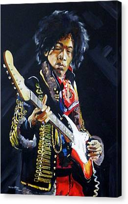 Hendrix Canvas Print by Terence R Rogers
