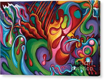 Canvas Print featuring the painting Hendrix Voodoo Magick by Tiffany Davis-Rustam