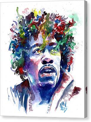 Hendrixhead Canvas Print by Ken Meyer jr