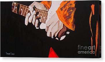 Hendrix's Fingers Canvas Print by Stuart Engel