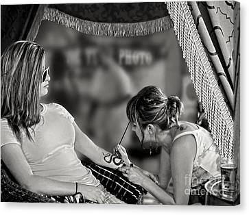 Canvas Print featuring the photograph Henna At The Fair by Jennie Breeze