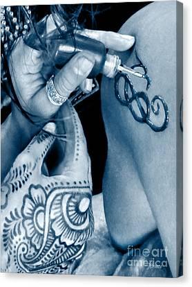 Henna Blue Canvas Print