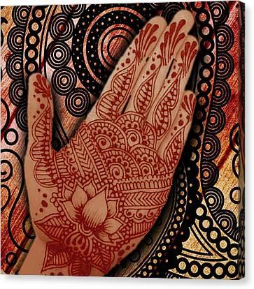 Henna Indian Beauty 2 Canvas Print