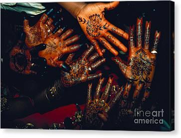 Henna Tattoos For Wedding Ceremony Canvas Print