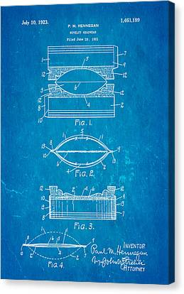 Hennegan Novelty Headwear Patent Art 1923 Blueprint Canvas Print by Ian Monk
