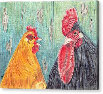 Henpecked Canvas Print by Arlene Crafton