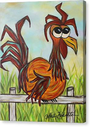 Ol' Rooster Canvas Print by Molly Roberts