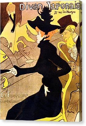 Divan Japonais Poster Canvas Print by Henri de Toulouse-Lautrec