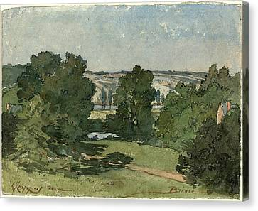 Henri-joseph Harpignies, Briare, French, 1819-1916 Canvas Print by Litz Collection