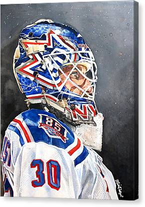 Henrik Lundqvist - New York Rangers Canvas Print