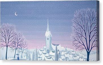 Henris Winter Innocence Canvas Print by Peter Szumowski