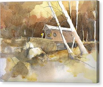 Henry Bridge In Fall  Canvas Print by Robert Yonke