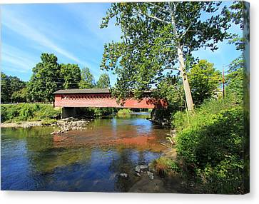 Canvas Print featuring the photograph Henry Bridge by Trina  Ansel