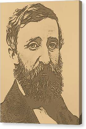 Abolitionist Canvas Print - Henry David Thoreau by Dan Sproul