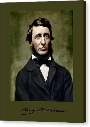 Henry David Thoreau Canvas Print by John Feiser