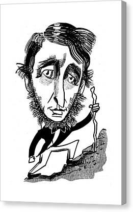Henry David Thoreau Canvas Print by Tom Bachtell
