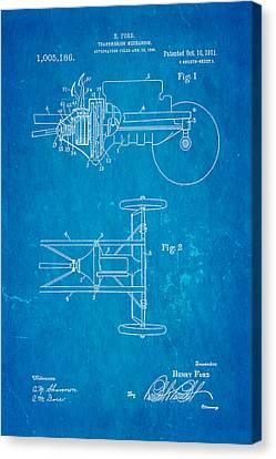 Henry Ford Transmission Mechanism Patent Art 1911 Blueprint Canvas Print by Ian Monk
