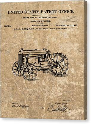 Henry Ford's Tractor Patent Canvas Print