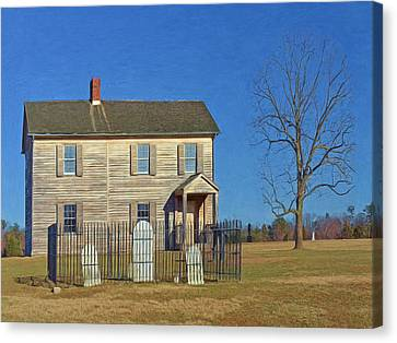 Henry House In Winter / Manassas National Battlefield Canvas Print