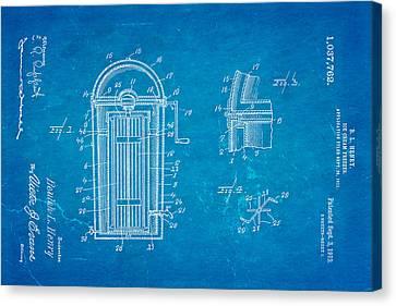 Henry Ice Cream Freezer Patent Art 1912 Blueprint Canvas Print by Ian Monk