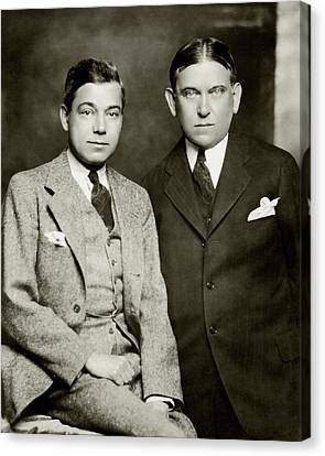 Henry L. Mencken And George Jean Nathan Canvas Print by Ben Pinchot