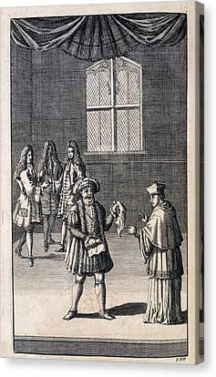 Shakespear Canvas Print - Henry Viii And Cardinal by British Library