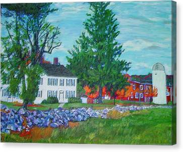 Henry Warren House And Barn Canvas Print