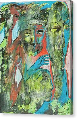 Her Avatars Canvas Print by Floria Varnoos