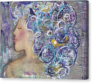 Her Creative Mind Canvas Print by Kirsten Reed