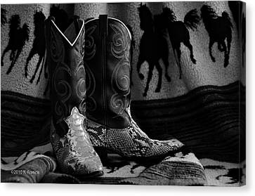 Canvas Print featuring the photograph Her Favorite Pair by Kenny Francis