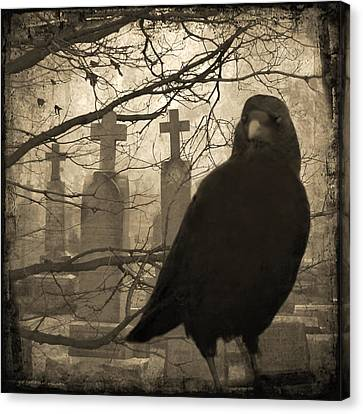 Her Graveyard Canvas Print by Gothicrow Images