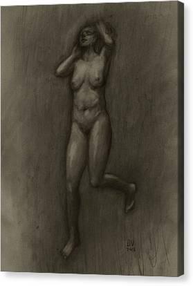 Her Lightness Canvas Print by Derek Van Derven