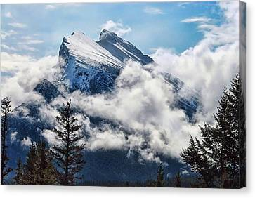 Her Majesty - Canada's Mount Rundle Canvas Print by Dyle   Warren